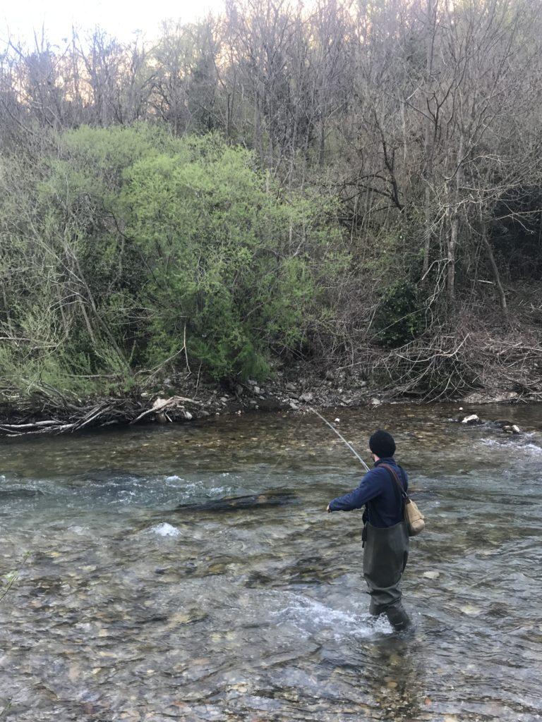 Pêche à la mouche dans la Dourbie
